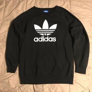 Adidas Originals Trefoil Black Crewneck, Size L